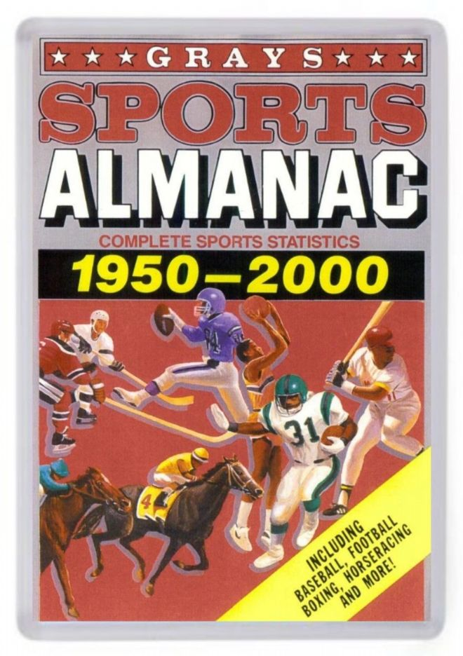 Grays Sports Almanac Fridge Magnet. Inspired by Back to the Future 2